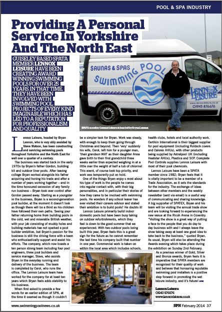 Lennox Leisure SPN Feb2014